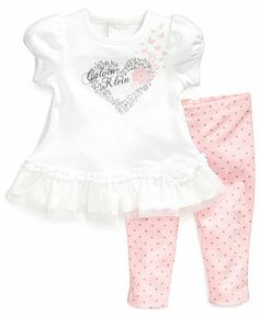 Calvin Klein Baby Girls' 2-Piece Top & Leggings Set