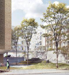 Gallery - KHR Arkitekter, WHR Architects and Arup International Design Bispebjerg Somatic Hospital - 1