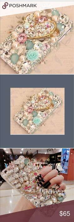 Gorgeous iPhone 6/6s Case Absolutely stunning!  All stones, pearls and flowers intact. A steal at the price! Accessories Phone Cases