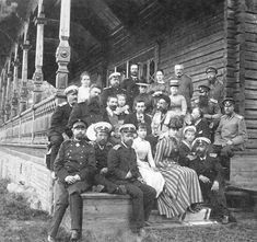 Holiday in Finland - c.1880  This is a group photo of Tsar Alexander lll, his wife Maria Feodorevna, sons Michael and George and daughter Xenia are also in the picture. Future Tsar Nicholas is not in the photo.