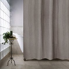 Pure Cotton Diamond Matelasse Shower Curtain 72 X 84