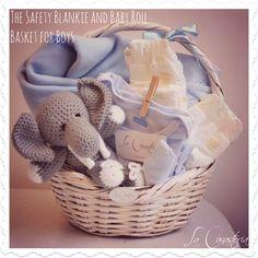 The Safety baby basket for boys es una hermosa canasta cálida y acogedora con un blankie ultra suave y baby roll para evitar caídas de bebé. Incluye pañalerito y elefantito vintage! Precio: $590 PARA COMPRAR EN LÍNEA HAZ CLICK AQUÍ: https://www.kichink.com/buy/208802/la-canasteria-gift-baskets/the-safety-baby-basket-for-boys#.U6msUvl5O_l