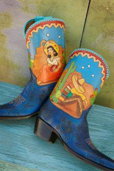 custom Siesta boots, Rocketbuster.