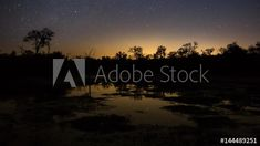 Stock Footage of A slow tilt up timelapse of a dam/lake at night with the Milky Way and stars reflecting in the water in a typical African bushveld landscape with early morning fog rolling in at dawn. Explore similar videos at Adobe Stock A Typical, Milky Way, Early Morning, Tilt, Stock Video, Stock Footage, Dawn, Northern Lights, Adobe