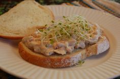 White Bean and carrot salad sandwich
