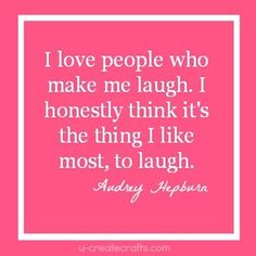 If you want more #beauty, take a tip from the very beautiful Audrey Hepburn. Laughter is the magic ingredient
