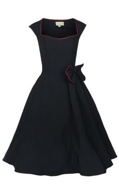 Lindy Bop 1950's Grace Rockabilly black swing dress