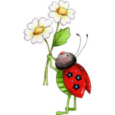illustrated ladybug art | Cartoon Ladybug Clipart | An Illustrated Cartoon Lady Bug Picture.