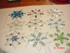 Stained glass Snowflakes