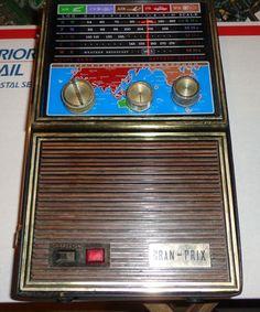 Vintage Gran Prix Transistor Radio -- AM FM Air Police and Weather! Shortwave Radio.