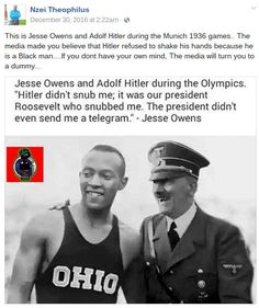 awesome Jesse Owens and Hitler Shook Hands at the 1936 Summer Olympics?