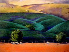 Rita Angus, The Rape Paddock - Hawkes Bay Landscape