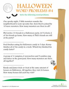 math worksheet : halloween word problems math worksheets  school holiday ideas  : Practical Math Worksheets