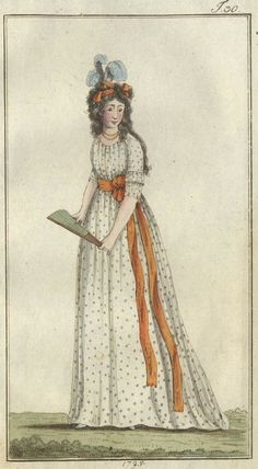 Chemise a l'Anglaise,and illustration from October 1795
