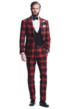 TARTAN: Ralph Lauren Red Tartan Suit.
