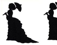 Crinoline Lady - Dama con ombrellino - file WPC per Pazzles di TheEmporiumOfWonders