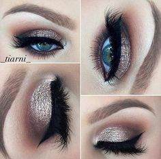 Sparkly Smokey Eye for Brides with Blue Eyes