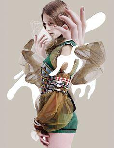 Karolina Sikorska wearing Prada & Emilio Pucci in Out of Imagination editorial, Vogue Thailand May 2014 (photography: Nat Prakobsantisuk, st. Fashion Collage, Fashion Art, Editorial Fashion, Fashion Design, Fashion Sketchbook, Fashion Sketches, Art Sketchbook, Digital Collage, Collage Art