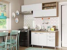 Cozinha Completa Multimóveis Toscana - 5058.132.131 com Balcão 4 Portas 3 Gavetas-de R$ 1.199,00 por R$ 599,90   em até 10x de R$ 59,99 sem juros no cartão de crédito  ou R$ 539,91 à vista (10% Desc. já calculado.)