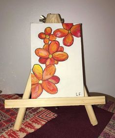 Watercolours  Canvas  25 NZ dollars  PM if interested Watercolor Canvas, Watercolours, Flowers, Painting, Art, Art Background, Painting Art, Kunst, Paintings