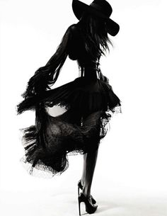Fashion, couture, black and white, hat, profile, models, blowing, HOT!!
