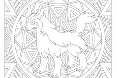 adult pokemon coloring page mightyena 262