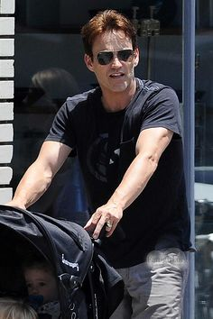 Stephen Moyer takes a walk on a Sunday in Venice