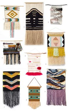 Handwoven Wall Hangings | Earl Grey Blog http://earlgreyblog.com/2014/09/handwoven-wall-hangings.html