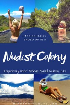 Any idea where there is a nudist colony in the United States?  I had NO idea the answer to this question until I accidentally wound up in one.  My husband and I were amid our whirlwind road-trip ALL over Colorado, camping in Great Sand Dunes National Park, when one morning we decided to venture to some nearby hot springs... #hotsprings #colorado #coloradotravel #funnystory #travelstories #travelblogger #travelwriter #traveldestinations #exploremore