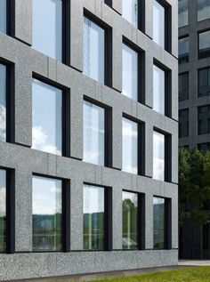 Herostrasse Office Building by Max Dudler. Photo by Stefan Müller.