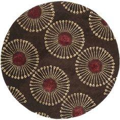 Safavieh Handmade Soho Zen Coffee/ Brown New Zealand Wool Rug - X Round X Round - Coffee/Brown) Wool Area Rugs, Wool Rug, Soho, Zen, Contemporary Area Rugs, Contemporary Homes, Round Area Rugs, Coffee Design, New Carpet