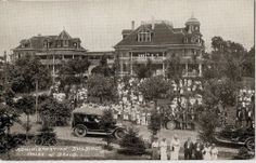 House of David Admin. House Of David, Benton Harbor, Wedding With Kids, George Washington, Amusement Park, Old Pictures, Continents, Vintage Cars, Michigan
