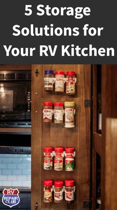 5 RV Storage Solutions For Your RV Kitchen After living full time in our RV for a month we realized 5 RV Storage Solutions For Your RV Kitchen After living full time in our RV for a month we realized nbsp hellip life diy storage spaces Small Storage, Diy Storage, Storage Spaces, Bus Living, Tiny Living, Travel Trailer Camping, Rv Camping, Camping Ideas, Van Life Blog