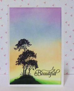 Serene and Beautiful Made with Serene Silhouettes  stamp and Just Rite sentiment