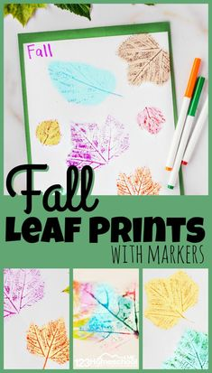 Fall Crafts For Toddlers, Easy Fall Crafts, Toddler Crafts, Leaf Projects, Fall Art Projects, Kindergarten Activities, Preschool Crafts, Kid Crafts, Leaf Crafts Kids