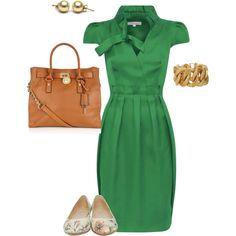 "First Year Teacher Outfit, created by estvsluis on Polyvore        sure ""first year teacher outfit"" ok pinner... this dress is 1,000.  PHAHAHAHA"