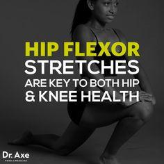 Hip flexor stretches - Dr. Axe http://www.draxe.com #health #Holistic #natural