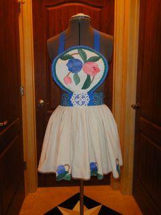 Vintage Retro Style Bib Apron  Beautiful apron by SewTerriVintage, $35.00