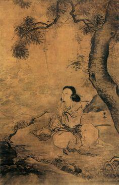 Zhang Lu(张路) , 明 张路 吹箫女仙图  北京故宫博物院藏