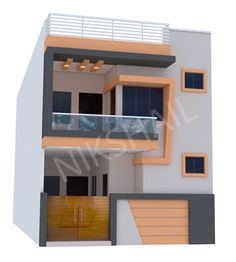 20x50 House plan with 3d elevation option b 2bhk House Plan, Duplex House Plans, House Layout Plans, Bungalow House Design, New House Plans, Modern House Plans, Single Floor House Design, House Front Design, Small House Design