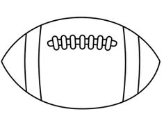 Free printable football stencil thin football outline for Football cutout template