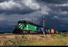 RailPictures.Net Photo: BN 7077 Burlington Northern Railroad EMD SD40-2 at Winston, Montana by Mike Danneman