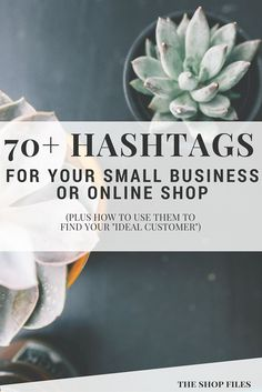 over 70 hashtag ideas for small business or online shops! Plus how to use them to find your ideal customer. Stressed out over hashtags on Instagram? 3 steps to determine your best hashtag mix + one HUGE time saving tip!