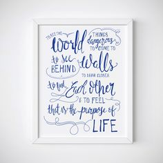 Clearance - On Sale - Purpose of Life Print - Walter Mitty Quote - Typography Print - Art Print - Gift for Travellers - Gift for Wanderlust by KimRoachDesign on Etsy https://www.etsy.com/uk/listing/212638181/clearance-on-sale-purpose-of-life-print