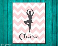 Personalized Ballerina Dancer - Ballet Dance Class Gift - Perfect for a Ballerina - Custom Ballet Wall Art - Girls Room Decor - Ballet Party on Etsy, $8.00