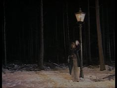 Mt. Tumbus (Jeffrey Perry) standing by the lamppost in The Lion, the Witch, and the Wardrobe (1988).