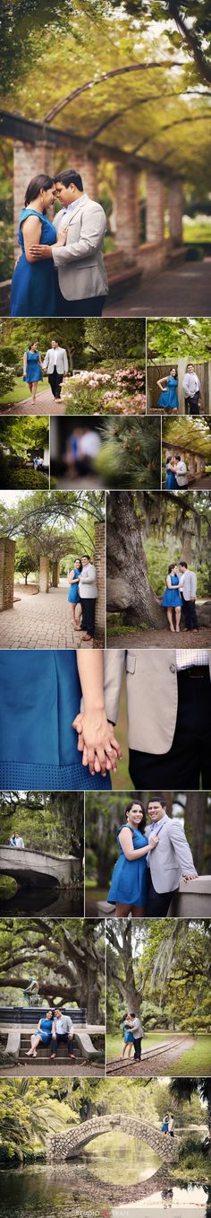 New Orleans Botanical Gardens City Park engagement photo session - Studio Tran Photography