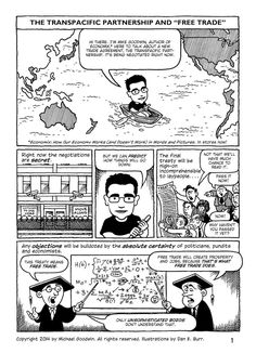 Awesome comic explains Free Trade, focusing on the Trans Pacific Partnership.