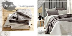 """ROCHELLE GRAY & ROCHELLE CREME - This Bella Taylor Home set comes with a quilt and 2 shams (1 sham w/Twin). The Rochelle collection is elegant, chic and simple in hues of Creme or choose our Grey. Marsala (the color of the year for 2015!), a rusty apricot brandy and a cool green-blue slate.  Available in King, Queen and Twin sized  It comes with 21x37"""" shams. It is 100% cotton and hand quilted with saddle stitch. Packaged individually with 2 shams in zippered LD poly bag ."""
