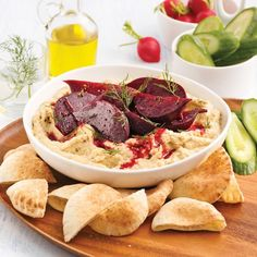 Houmous aux betteraves rôties Mini Pains, Hors D'oeuvres, Nutrition, Tahini, Tacos, Food And Drink, Appetizers, Ethnic Recipes, Cooking Recipes